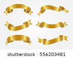 set of gold ribbons.vector... | Shutterstock .eps vector #556203481