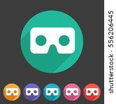 virtual reality cardboard... | Shutterstock .eps vector #556206445