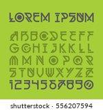 futuristic alien font design.... | Shutterstock .eps vector #556207594