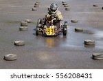 karting   driver in helmet on...   Shutterstock . vector #556208431
