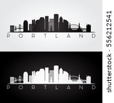 Portland Usa Skyline And...