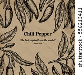 chili package design element.... | Shutterstock . vector #556213411