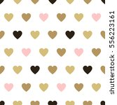 seamless background hearts.... | Shutterstock .eps vector #556223161