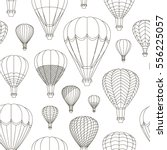 air balloons set pattern.... | Shutterstock .eps vector #556225057
