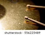 close up shot of two drum... | Shutterstock . vector #556225489