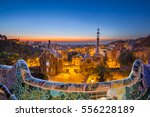 park guell by architect antoni... | Shutterstock . vector #556228189