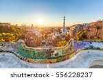 park guell by architect antoni... | Shutterstock . vector #556228237