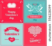 set of valentine cards.... | Shutterstock .eps vector #556228399