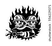 firefighters extinguish fire.   Shutterstock .eps vector #556229371