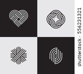 modern line logos. cool... | Shutterstock .eps vector #556231321