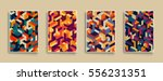 isometric pattern covers.... | Shutterstock .eps vector #556231351