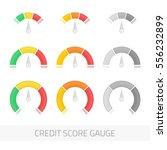 credit score indicators and... | Shutterstock .eps vector #556232899