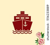 Ship Icon  Vector Illustration...