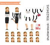 pupil character for your scenes.... | Shutterstock .eps vector #556234141