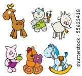 vector animal set 2 | Shutterstock .eps vector #55623418