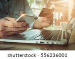 online payment man's hands... | Shutterstock . vector #556236001