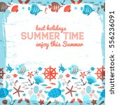 summer time background with red ... | Shutterstock .eps vector #556236091