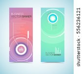 vertical banners in pastel...
