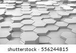 abstract white hexagonal... | Shutterstock . vector #556244815