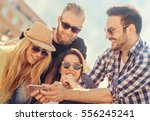 group of friends taking a... | Shutterstock . vector #556245241