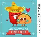 postcard valentine's day.... | Shutterstock .eps vector #556255804