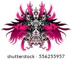 long haired valkyrie in a...   Shutterstock .eps vector #556255957