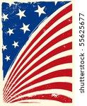 american grunge flag | Shutterstock .eps vector #55625677