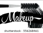 mascara  mascara brush  mascara ... | Shutterstock .eps vector #556268461