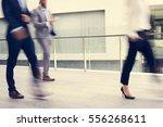 businesspeople men women walk... | Shutterstock . vector #556268611