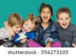 children smiling happiness... | Shutterstock . vector #556273105