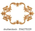 gold ornament on a white... | Shutterstock . vector #556275229