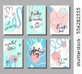 valentine s day creative... | Shutterstock .eps vector #556282555