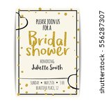 typographic bridal shower... | Shutterstock .eps vector #556287307