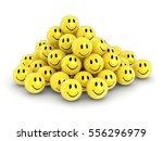 3d illustration. smileys. image ... | Shutterstock . vector #556296979