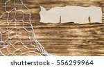 Small photo of old wood and paper thereon network for overprint