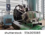 the motor and pulley on air... | Shutterstock . vector #556305085