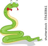 illustration of a snake on a... | Shutterstock . vector #55630861