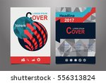 red vector annual report... | Shutterstock .eps vector #556313824