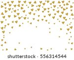cute pattern with gold hearts... | Shutterstock .eps vector #556314544