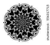 mandalas for coloring book.... | Shutterstock .eps vector #556317715