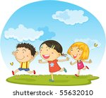 illustration of a kids on a... | Shutterstock . vector #55632010