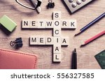 words of social and network... | Shutterstock . vector #556327585