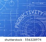 productivity word on machine... | Shutterstock .eps vector #556328974