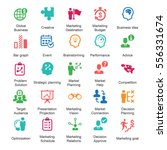 marketing strategy icons  ... | Shutterstock .eps vector #556331674