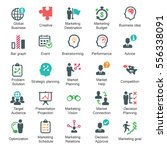 marketing strategy icons  ... | Shutterstock .eps vector #556338091