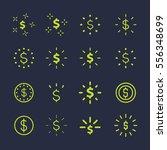 set of shining dollar sign.... | Shutterstock .eps vector #556348699