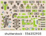 vector set of office. people at ... | Shutterstock .eps vector #556352935
