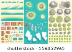 set of landscape elements.... | Shutterstock .eps vector #556352965