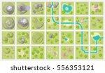 set landscape blocks.  top view ... | Shutterstock .eps vector #556353121
