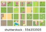 set of landscape elements.... | Shutterstock .eps vector #556353505